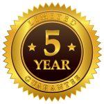 5 Year Material Breakage Guarantee